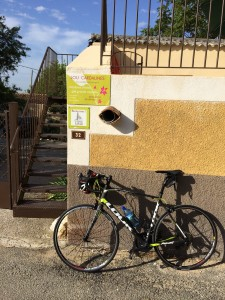 My rental bike at the entrance of Lou Cardalines