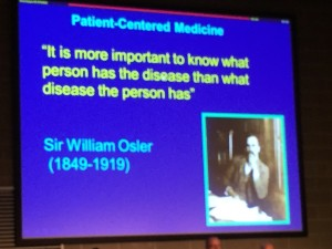 My favorite slide from the meeting -- Love Osler